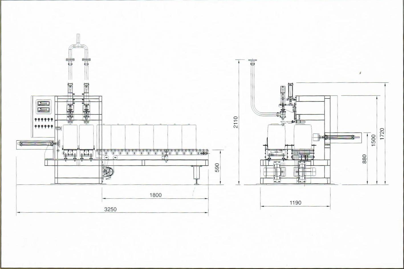 semi auto 2 noozles filling machine